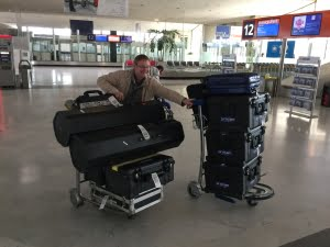 LA Media Team at Airport with Equipment