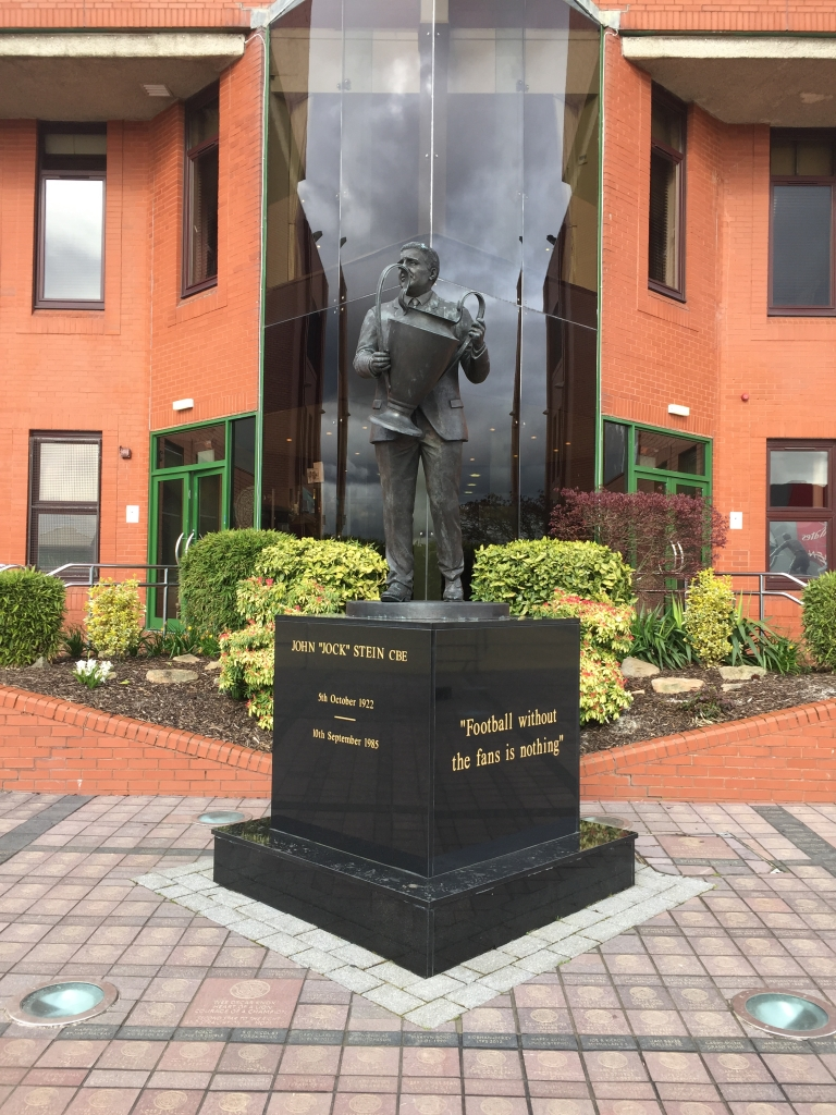 Outside Celtic Park