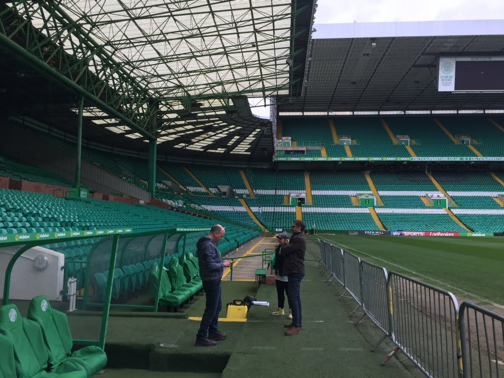 Drone Filming Inside Celtic Park