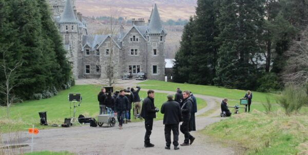 drone filming on Season 2 The Crown