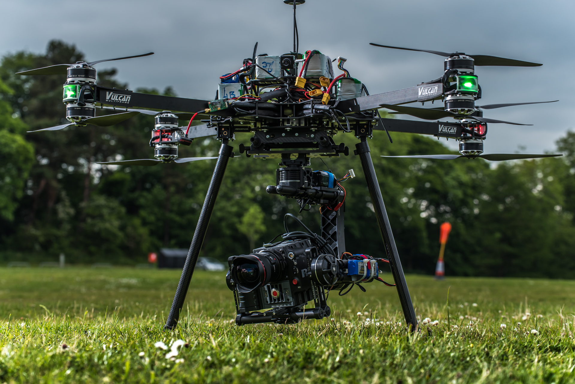 high end filming drone set-up