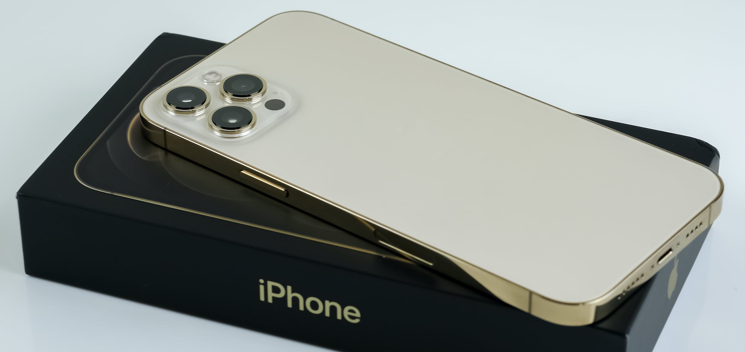 iPhone 12 pro max in gold