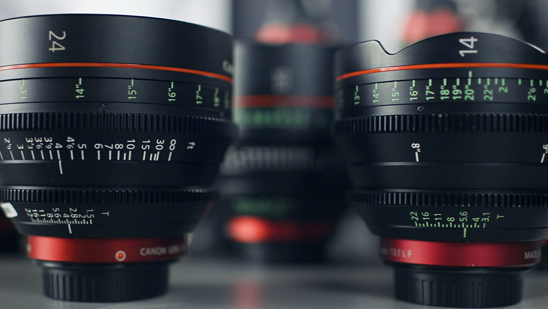 Selection of camera lenses